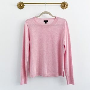 J.Crew Everyday Cashmere Long Sleeve Pink Sweater